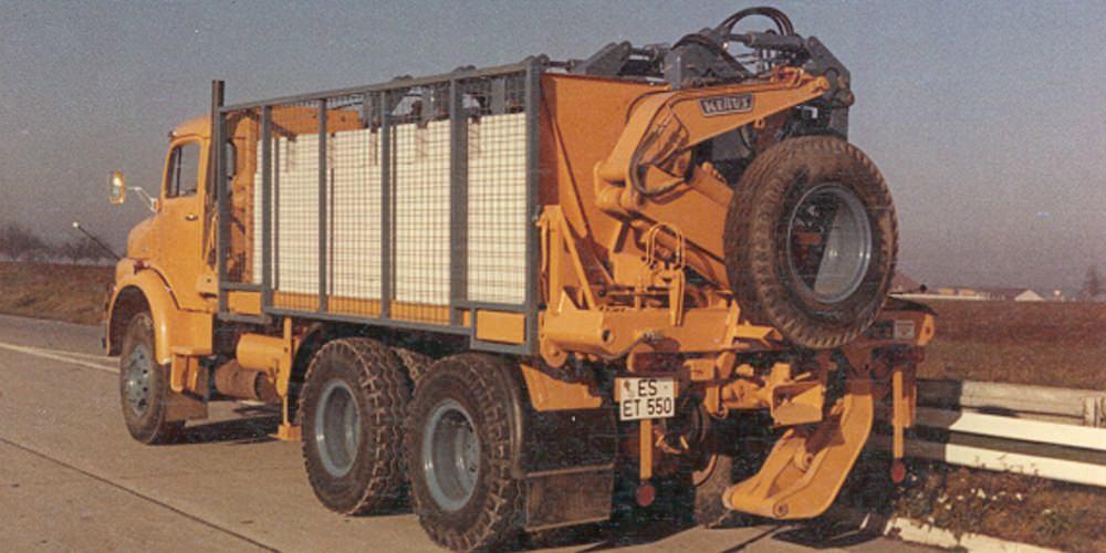 Kalksandsteine LKW Seitenlader
