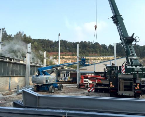 Stahlbau Verpackungshalle