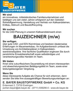 CAD Bauzeichner (m/w) für KS-Planelement Wandverlegepläne gesucht!